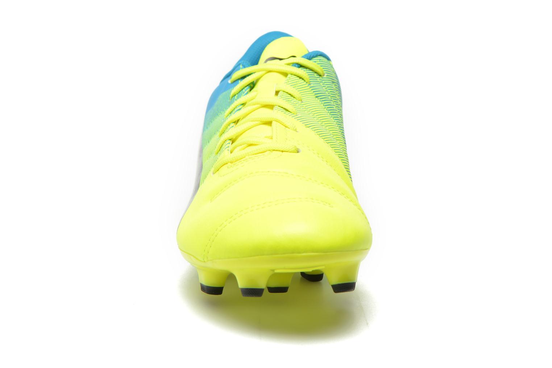 Sportschuhe Puma Evopower 4.3 FG gelb schuhe getragen