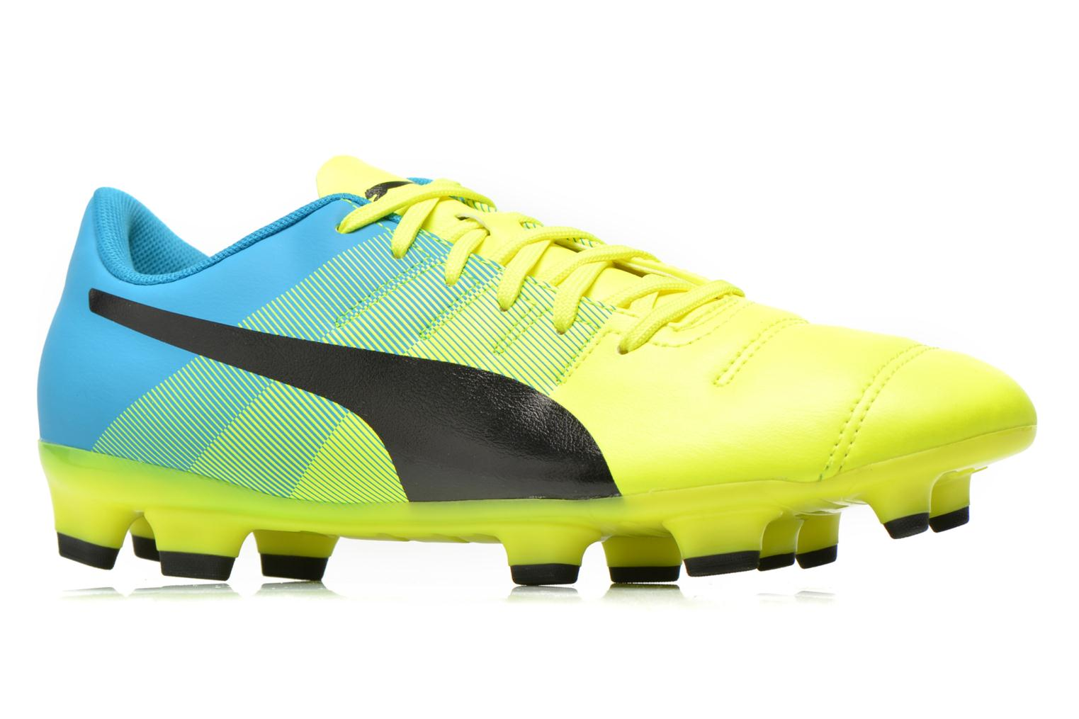 Sport shoes Puma Evopower 4.3 FG Yellow back view