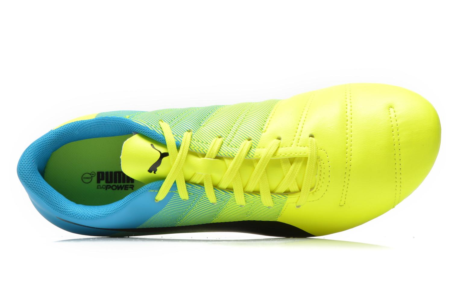Sport shoes Puma Evopower 4.3 FG Yellow view from the left