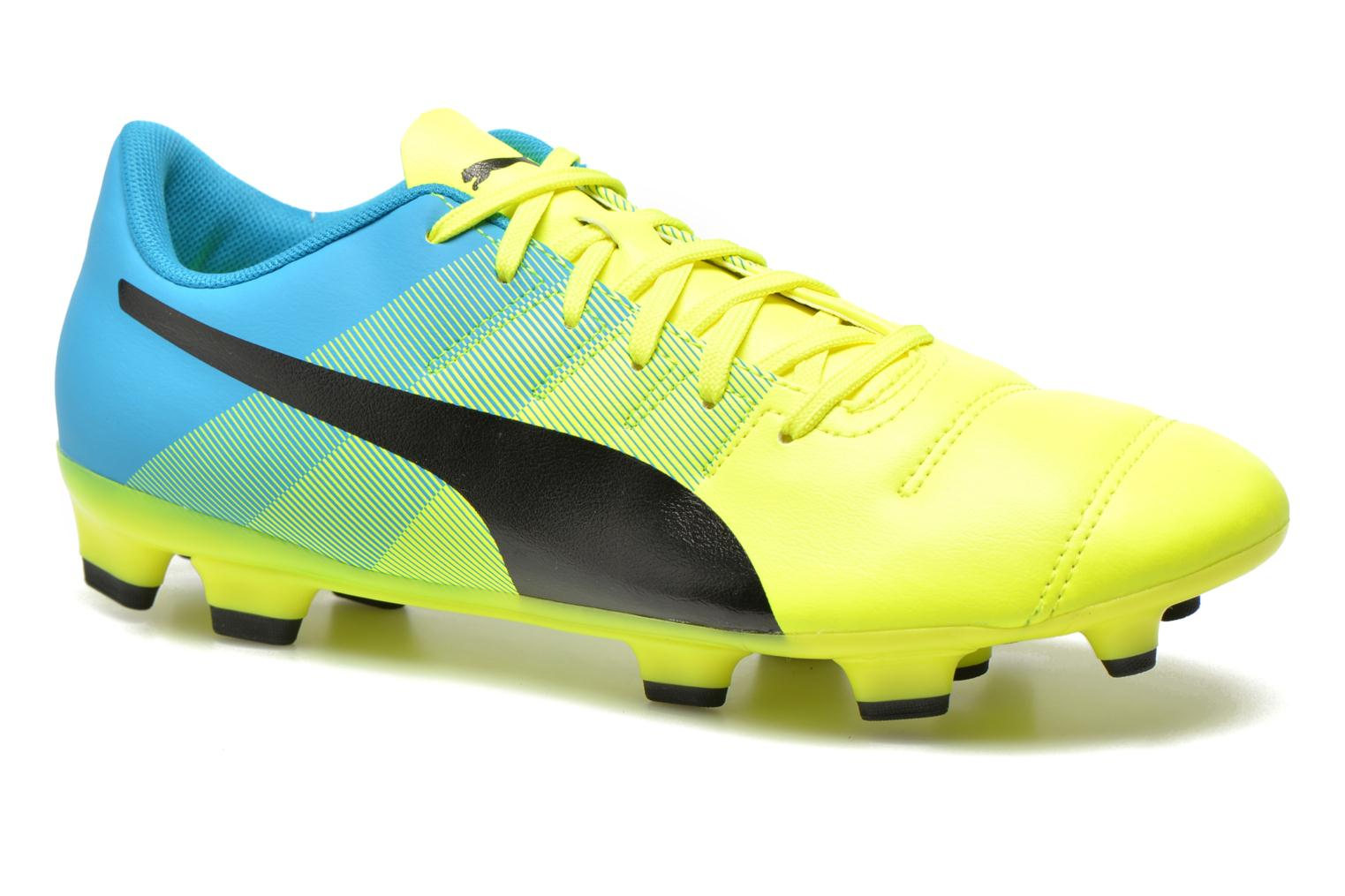 Sport shoes Puma Evopower 4.3 FG Yellow detailed view/ Pair view