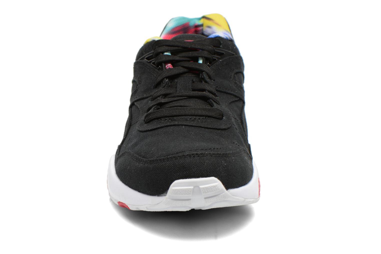 Sneaker Puma WNS R698 Blur Trinomic schwarz schuhe getragen