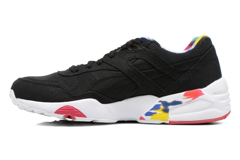 Sneaker Puma WNS R698 Blur Trinomic schwarz ansicht von vorne