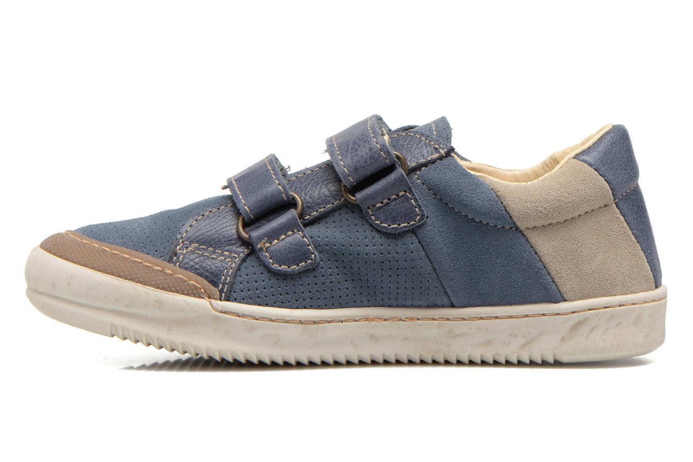 Zapatos con velcro El Naturalista Ankarana E374 Azul vista de frente