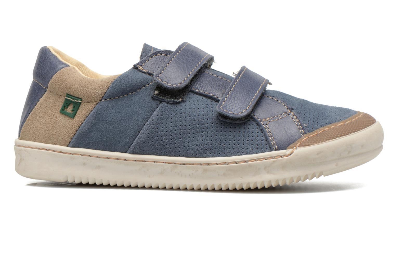 Zapatos con velcro El Naturalista Ankarana E374 Azul vistra trasera