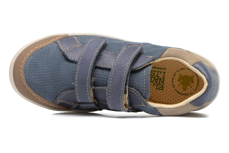 Zapatos con velcro El Naturalista Ankarana E374 Azul vista lateral izquierda