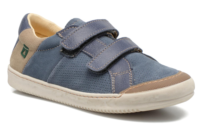Velcro shoes El Naturalista Ankarana E374 Blue detailed view/ Pair view