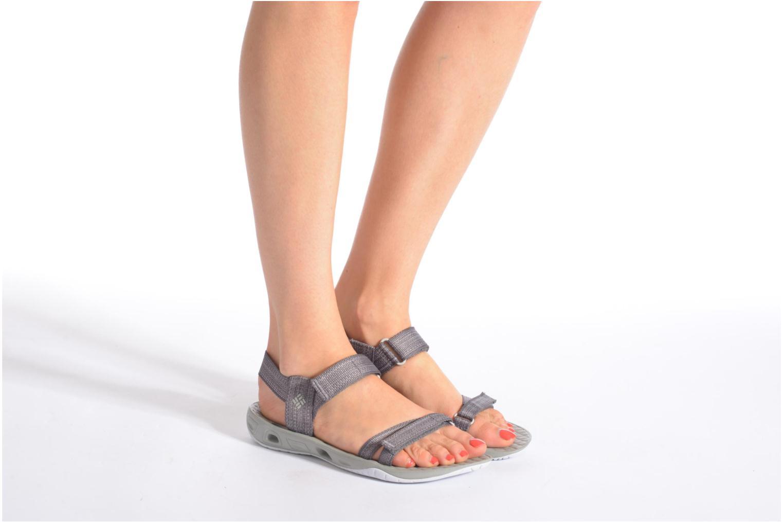 Chaussures de sport Columbia Sunbreeze Vent Avalon Gris vue bas / vue portée sac