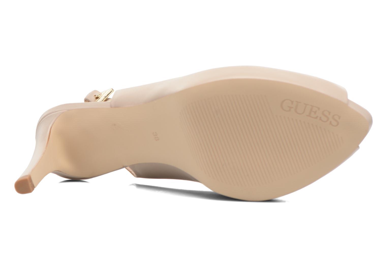 Sandales et nu-pieds Guess Kayna Beige vue haut