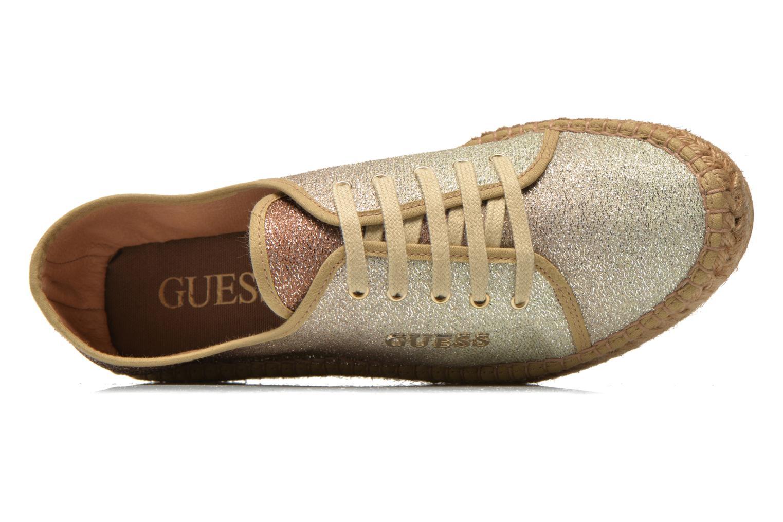 Sneaker Guess Renan braun ansicht von links