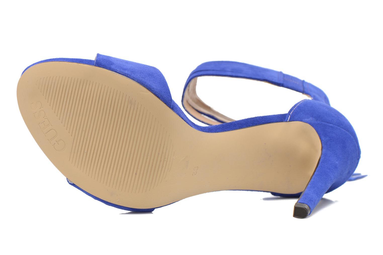 Sandales et nu-pieds Guess Aida Bleu vue haut