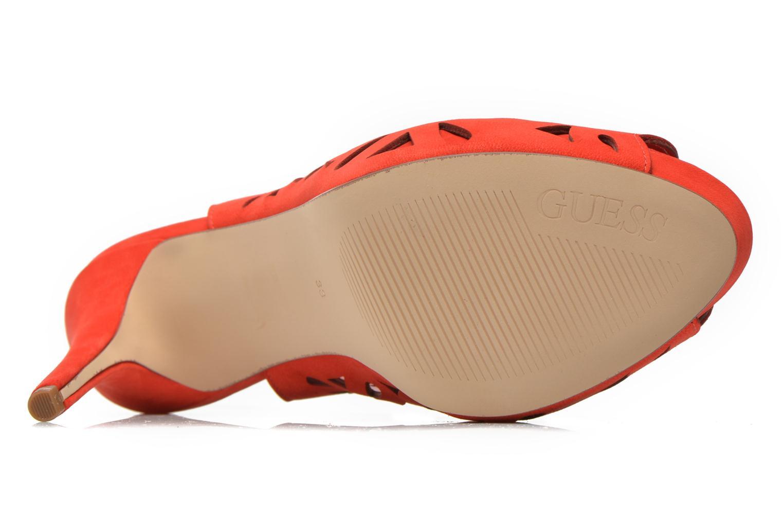 Sandales et nu-pieds Guess Hyee Rouge vue haut