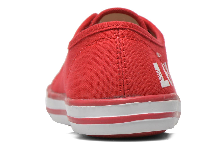Sneaker Levi's Gong rot ansicht von rechts