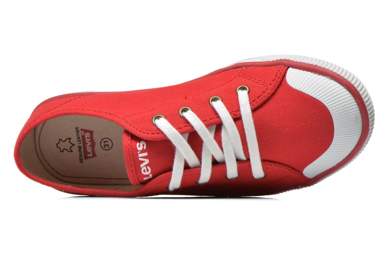 Sneaker Levi's Gong rot ansicht von links