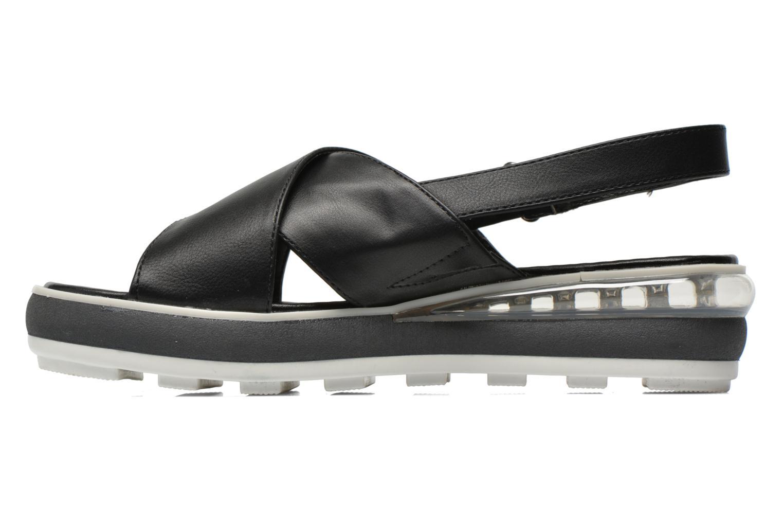 Sandales et nu-pieds Sixty Seven Maolky Noir vue face