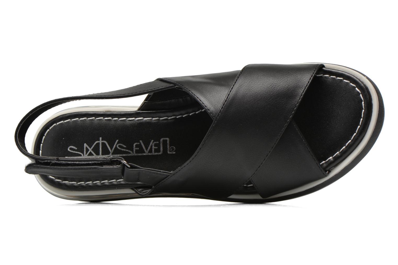 Sandales et nu-pieds Sixty Seven Maolky Noir vue gauche