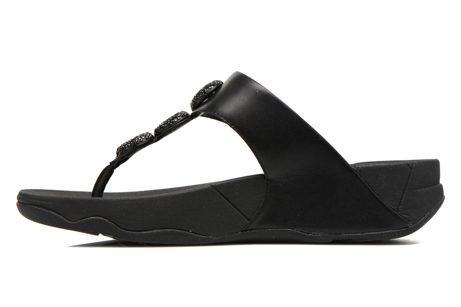 Tongs FitFlop Petra Sugar Noir vue face