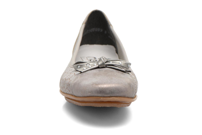 Ballerines Rieker Valy 43965 Gris vue portées chaussures