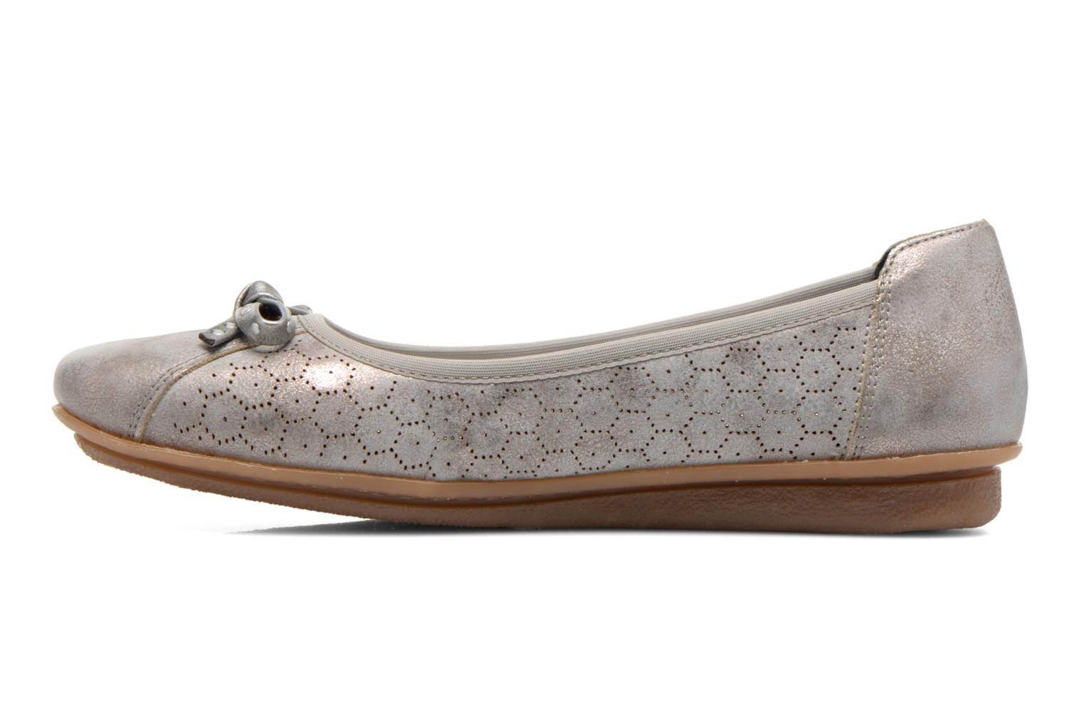 Ballet pumps Rieker Valy 43965 Grey front view