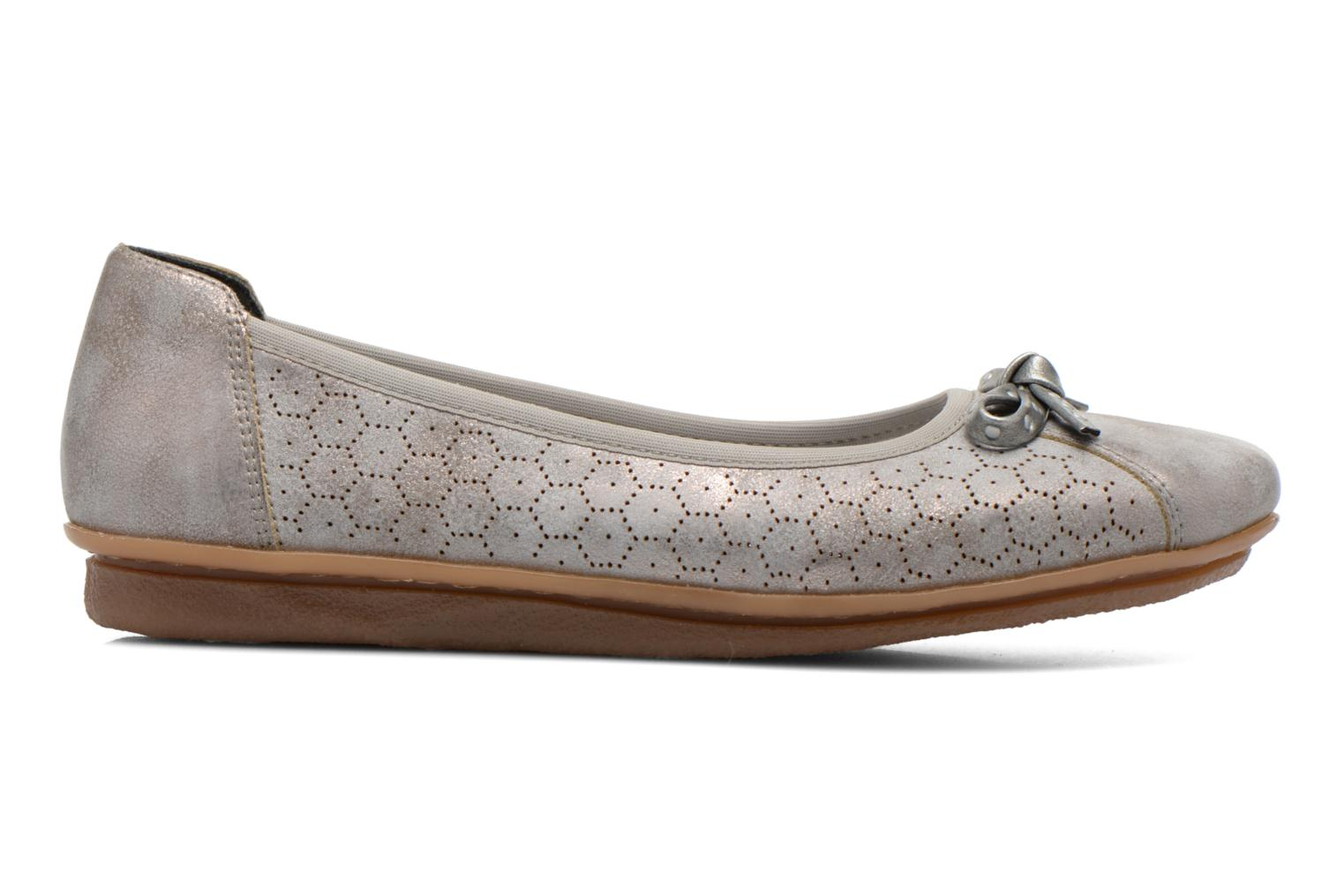 Ballet pumps Rieker Valy 43965 Grey back view
