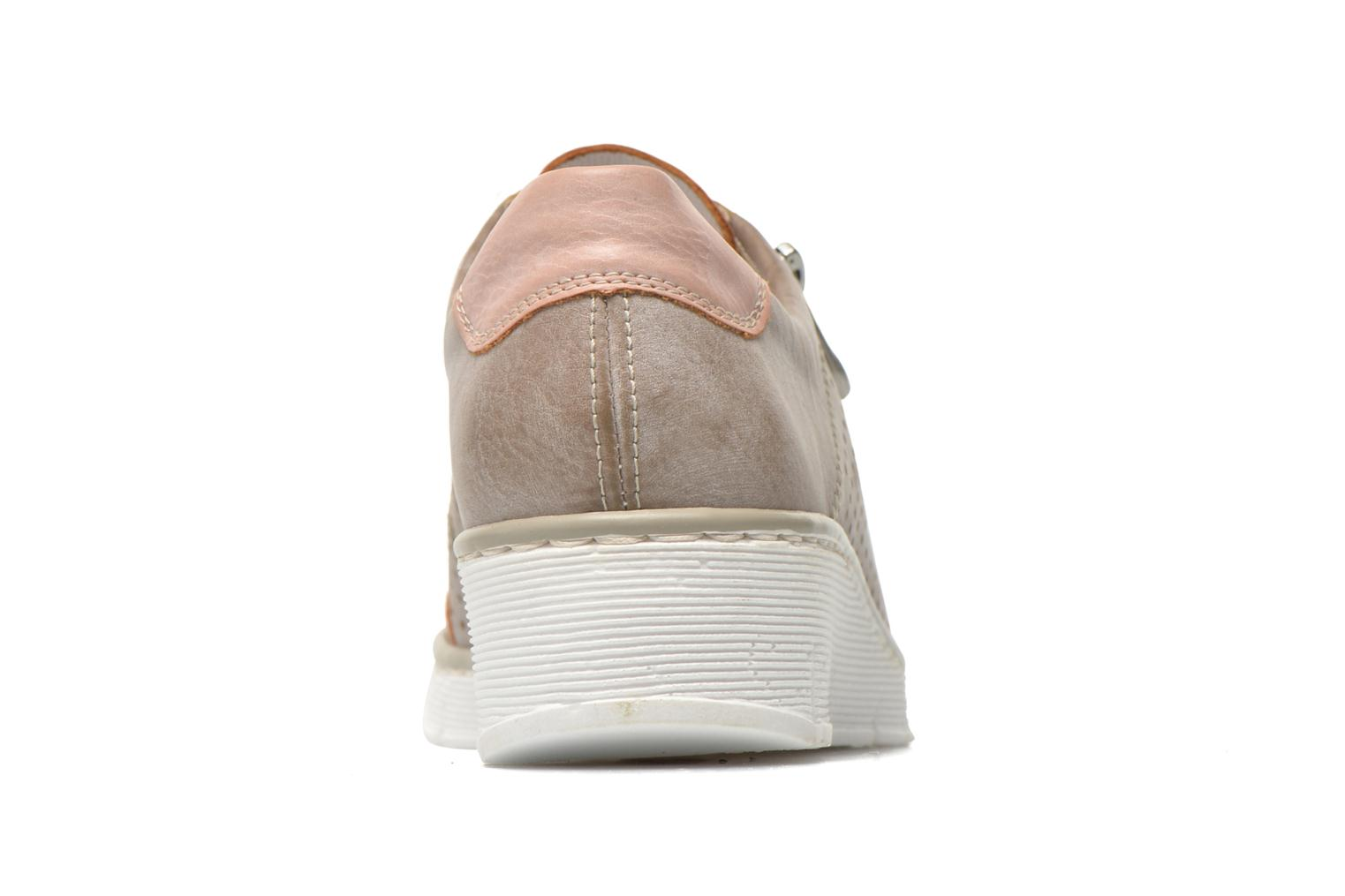 Trainers Rieker Walket 53725 Beige view from the right