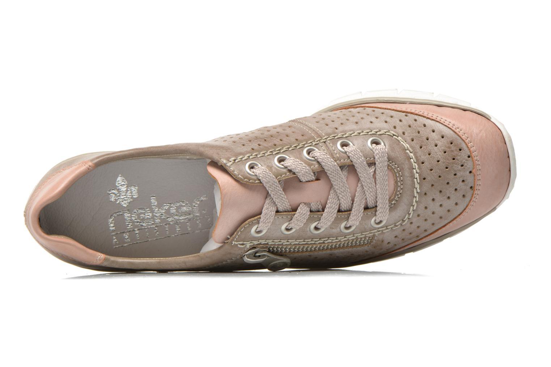 Sneaker Rieker Walket 53725 beige ansicht von links