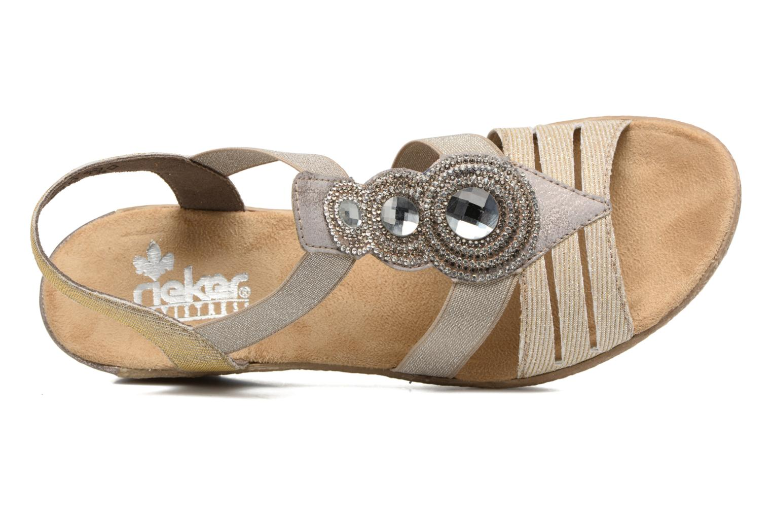 Sandals Rieker Bijou 62459 Grey view from the left