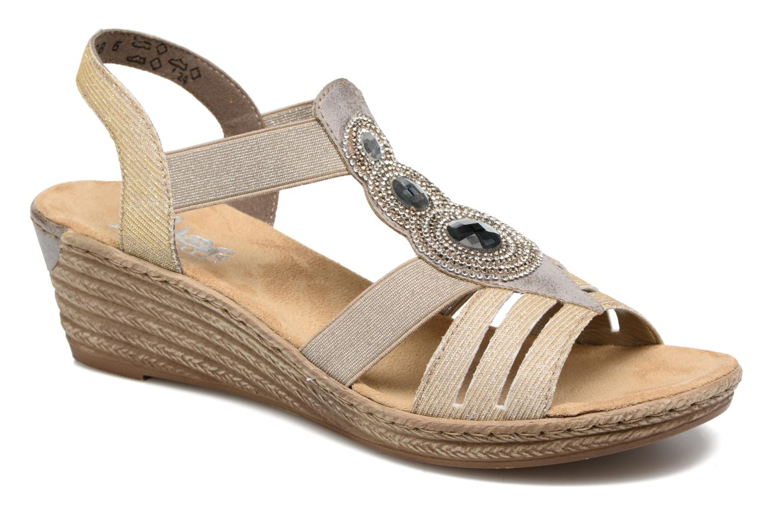 Sandals Rieker Bijou 62459 Grey detailed view/ Pair view