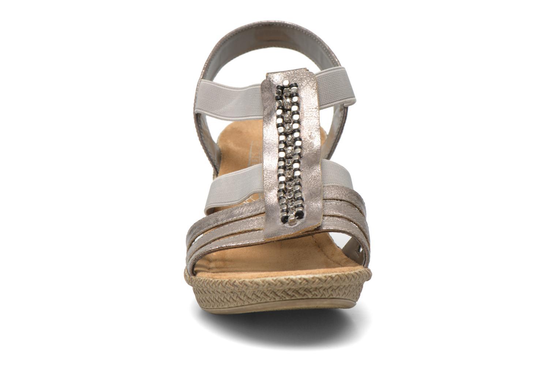 Sandales et nu-pieds Rieker Party 66584 Gris vue portées chaussures