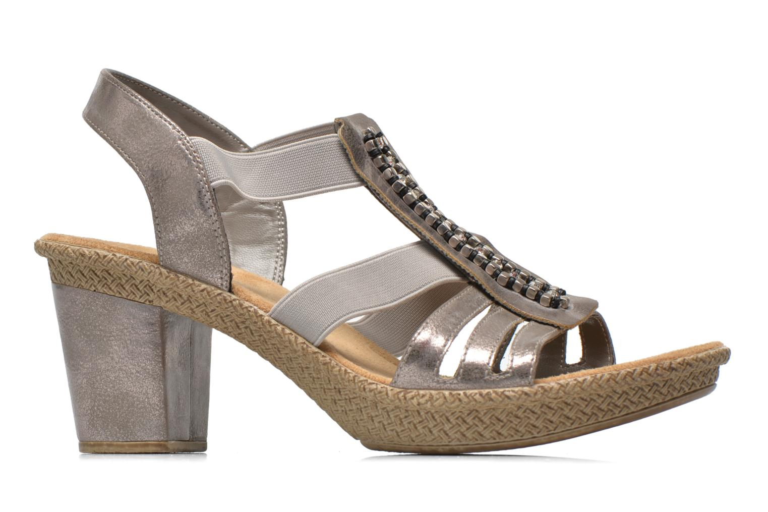 Sandals Rieker Party 66584 Grey back view