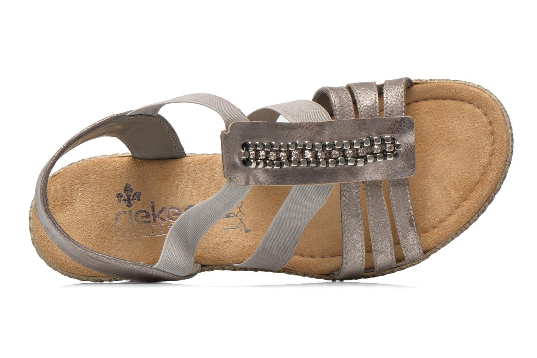 Sandales et nu-pieds Rieker Party 66584 Gris vue gauche