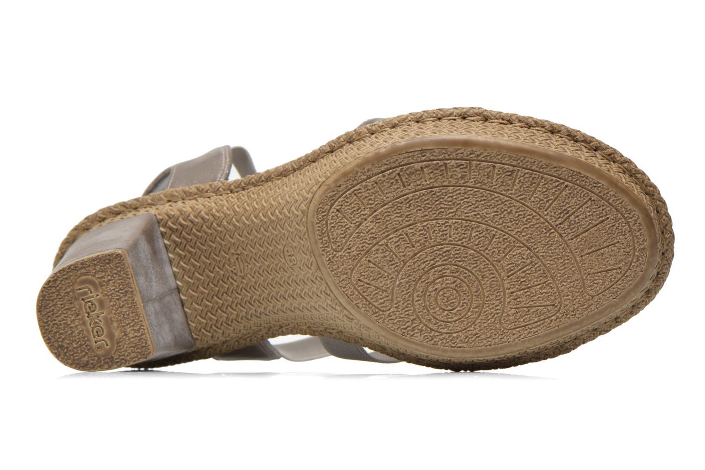 Sandales et nu-pieds Rieker Party 66584 Gris vue haut