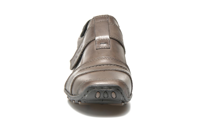 Slipper Rieker Tul 08984 grau schuhe getragen
