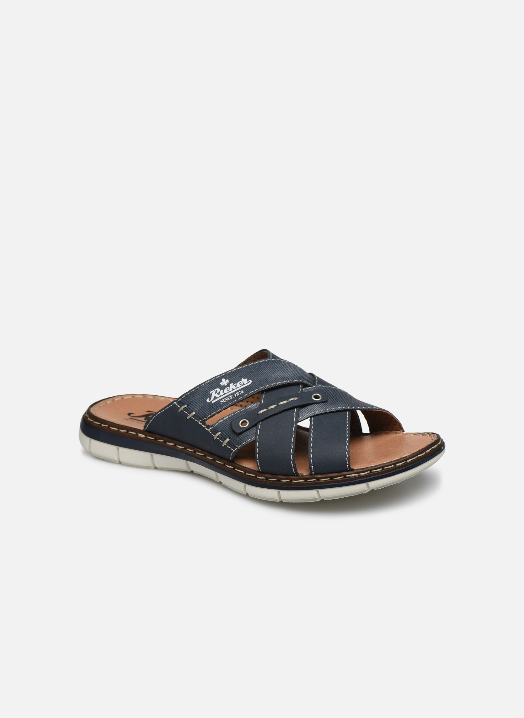 Sandals Rieker Tyr 25199 Blue detailed view/ Pair view