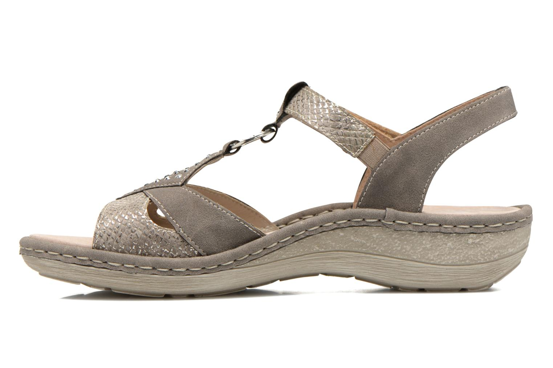 Sandales et nu-pieds Remonte Miny D7668 Gris vue face