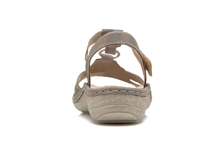 Sandales et nu-pieds Remonte Miny D7668 Gris vue droite