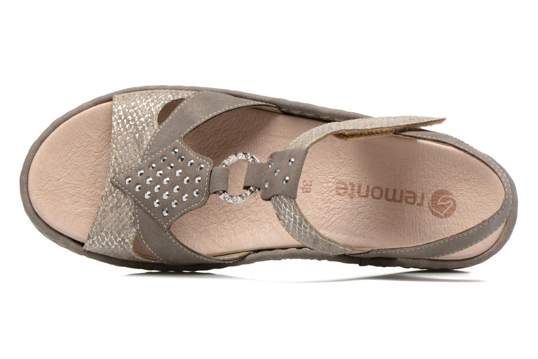 Sandales et nu-pieds Remonte Miny D7668 Gris vue gauche