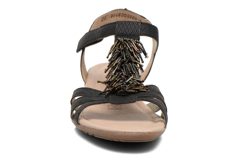 Sandalen Remonte Hype R3645 schwarz schuhe getragen