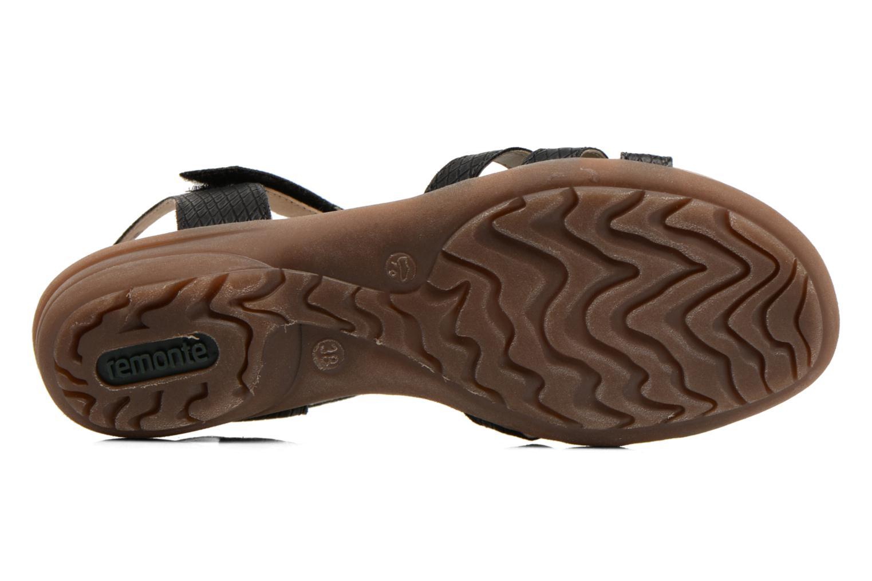 Sandalen Remonte Hype R3645 schwarz ansicht von oben