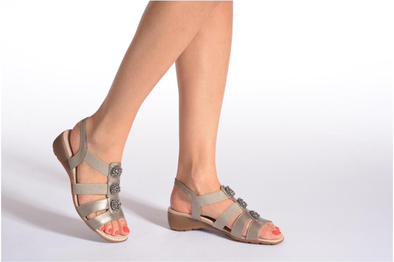 Sandales et nu-pieds Remonte Jewel R5267 Beige vue bas / vue portée sac
