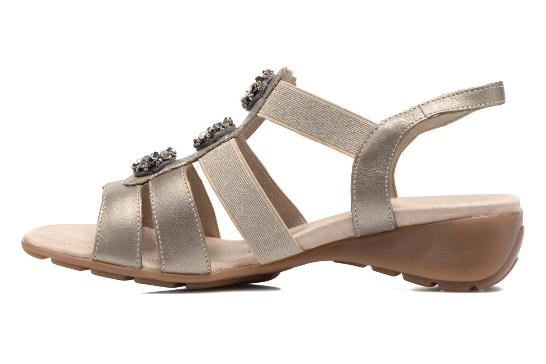 Sandales et nu-pieds Remonte Jewel R5267 Beige vue face