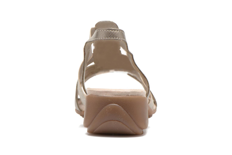 Sandales et nu-pieds Remonte Jewel R5267 Beige vue droite