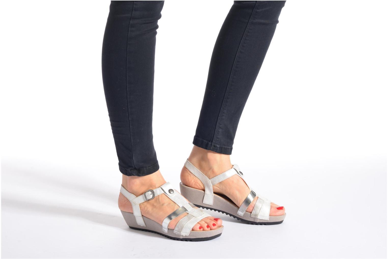 Sandales et nu-pieds Remonte Lou R5757 Gris vue bas / vue portée sac