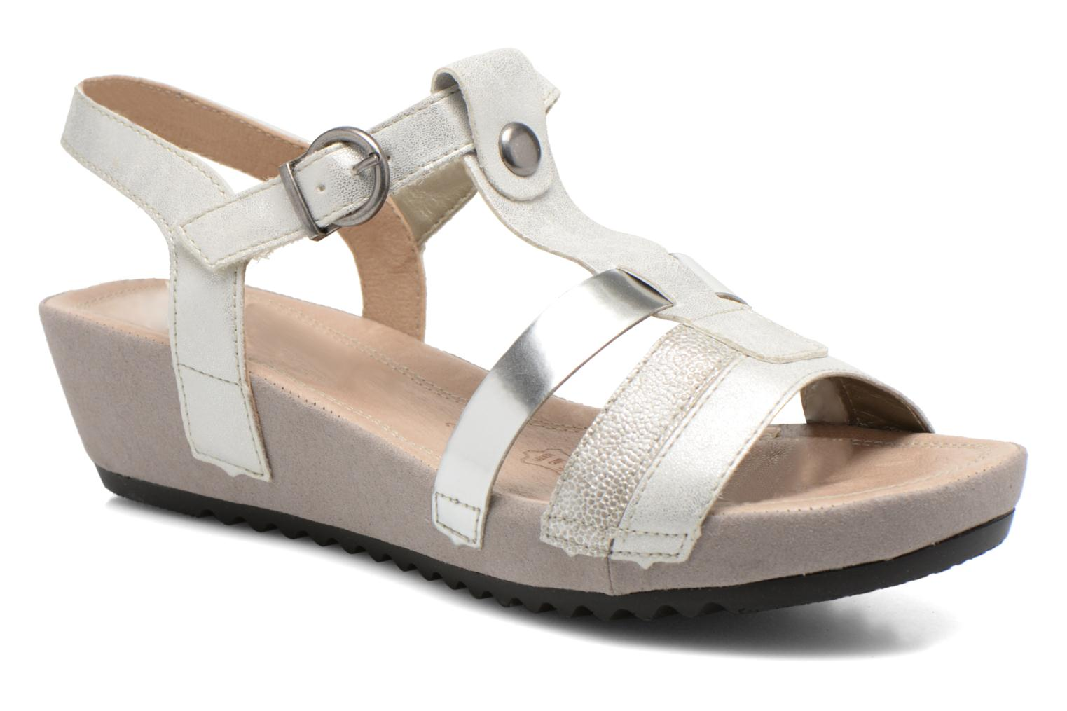 Sandals Remonte Lou R5757 Grey detailed view/ Pair view