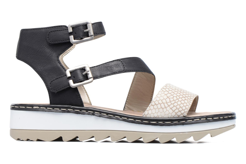 Sandales et nu-pieds Remonte Fash R7752 Noir vue derrière