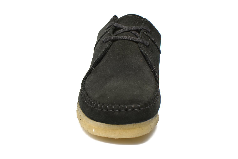 Schnürschuhe Clarks Originals Weaver M schwarz schuhe getragen