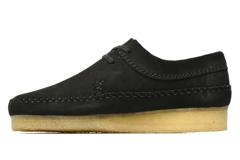 Snörade skor Clarks Originals Weaver M Svart bild från framsidan