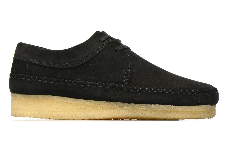 Lace-up shoes Clarks Originals Weaver M Black back view