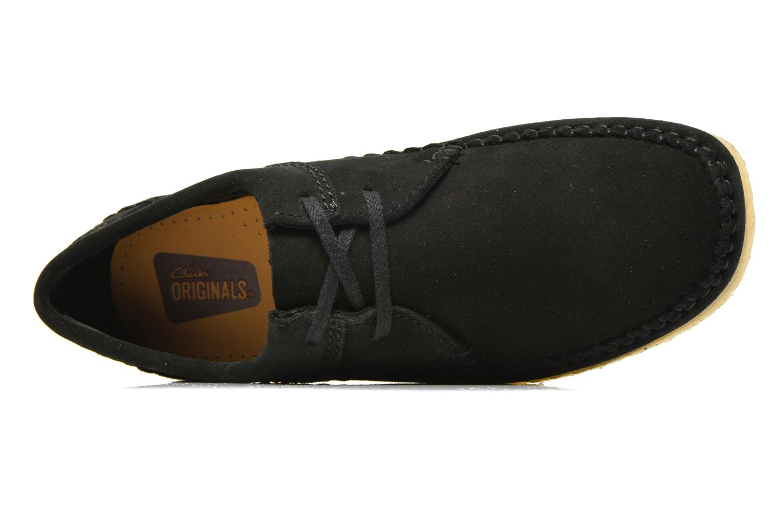 Chaussures à lacets Clarks Originals Weaver M Noir vue gauche