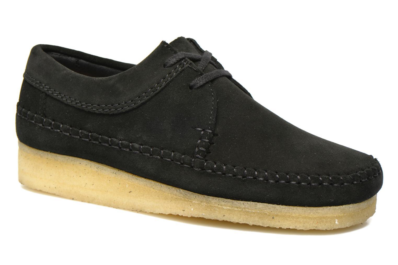 Snörade skor Clarks Originals Weaver M Svart detaljerad bild på paret