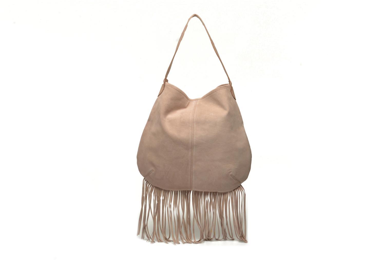 Handtaschen Pieces Tabatha suede Obo bag rosa ansicht von vorne